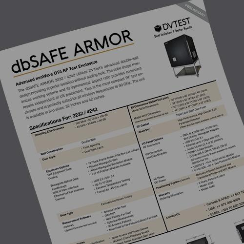 Releasing the dbSAFE ARMOR Shielded Test Enclosure
