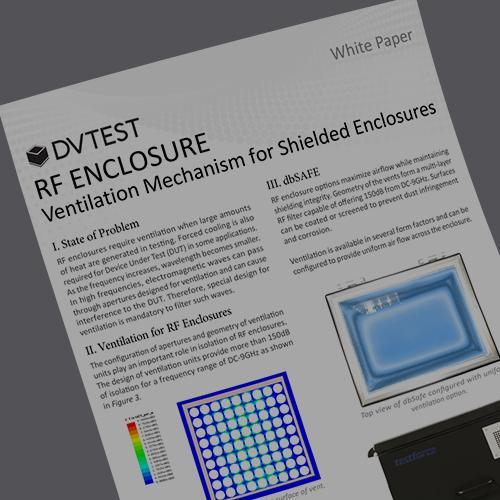 Ventilation Mechanisms for RF Shielded Test Enclosures